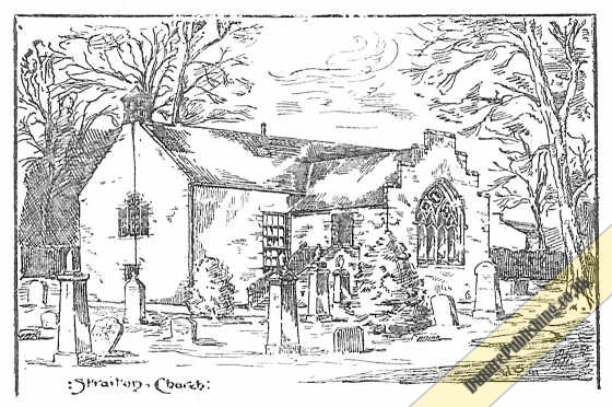 Drawing titled: Straiton Church